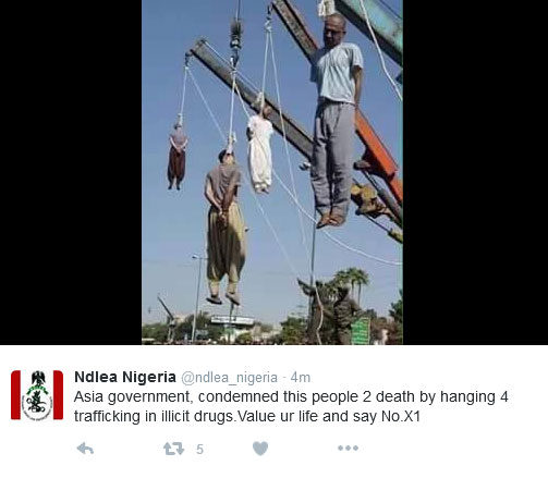 NDLEA's Tweet To Drug Traffickers This Morning (Graphic)