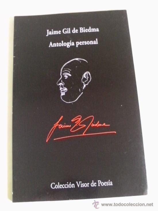 """""""antología personal"""" - J. Gil de Biedma."""