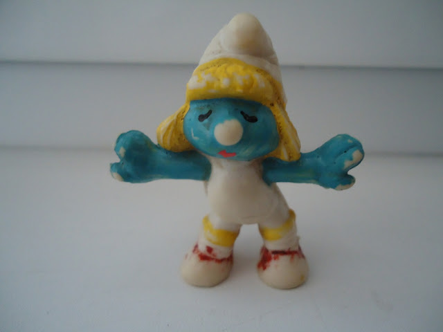 Vintage Aerobics Smurfette Figure by Peyo