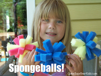 Spongeballs for staying cool this summer