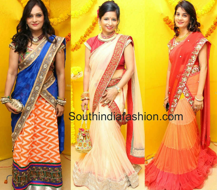 hyderabad socialites in half sarees