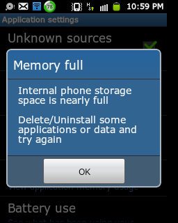 how to move apps from phone memory to internal storage