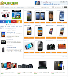 Blogger Blur E-Ticaret Teması