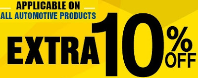 Flat 10% Extra Discount on Automotive Accessories (Music Accessories, Other Utilities)