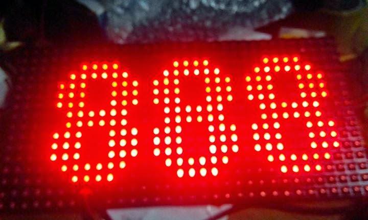display antrian 3 digit dot matrix