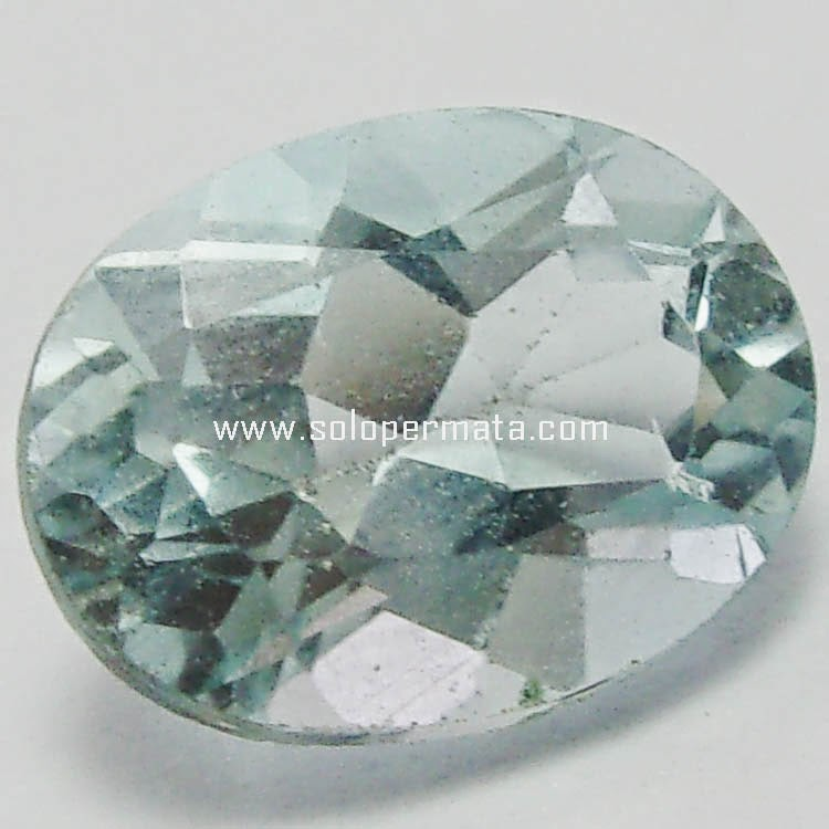 Batu Permata Greenish Blue Topaz
