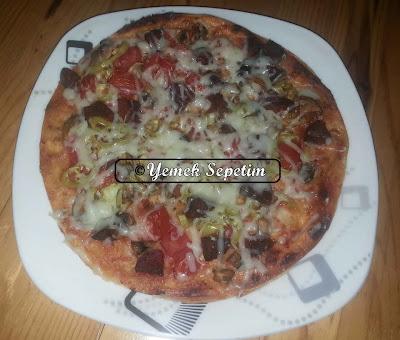 Lavaş Ekmekli Pizza Tarifi
