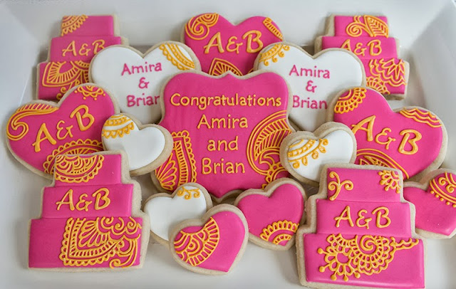 henna inspired wedding cookies