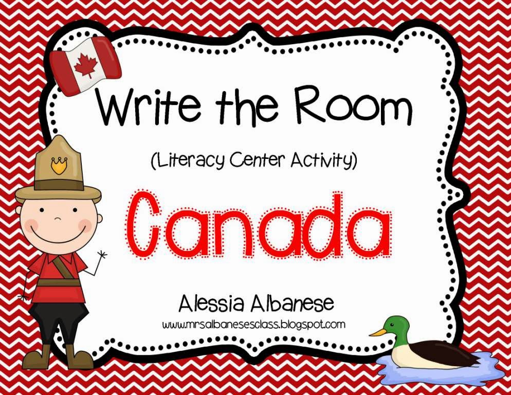 http://www.teacherspayteachers.com/Product/Write-the-Room-Literacy-Center-Canada-mini-book-FREEBIE-1175448