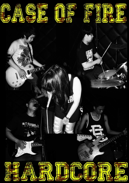 Case Of Fire Band Hardcore Bandung Female Vocal Foto Personil Wallpaper