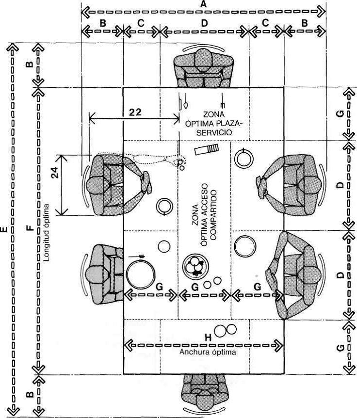 Muebles domoticos medidas para dise ar comedores de seis for Comedor 12 puestos