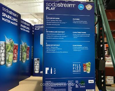 Soda Stream Play Sparkling Water Maker makes healthier sodas than store-bought sodas