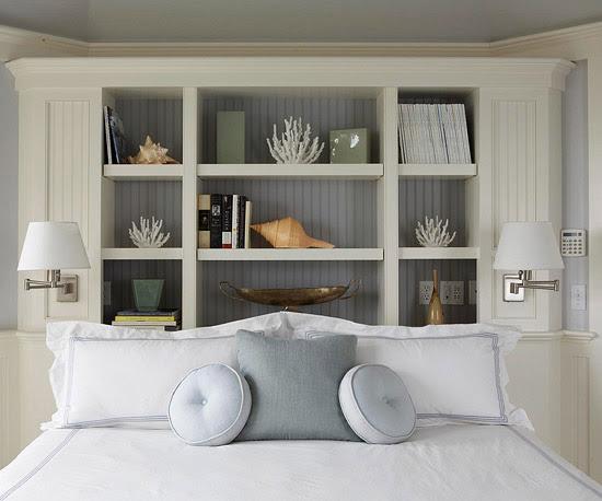 Bedroom Headboard Storage
