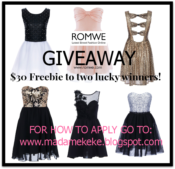 ROMWE GIVEAWAY: Two can win a $30 Gift Card! - INTERNATIONAL
