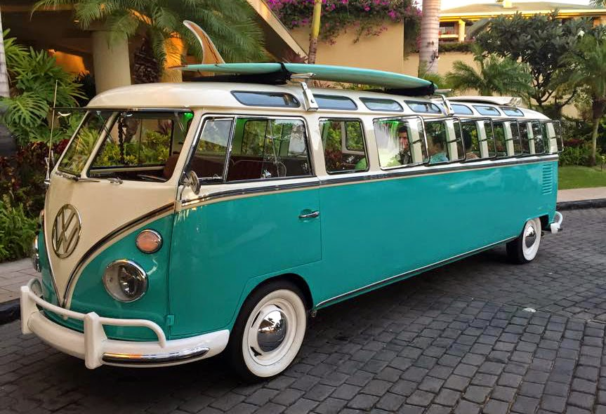 Just A Car Guy Vw Bus Limo On Maui Very Very Cool