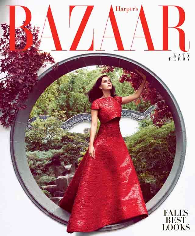 Katy Perry covers Harper's Bazaar October 2014