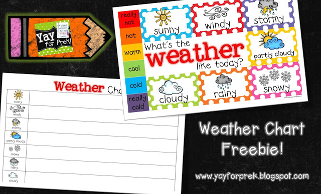 https://www.teacherspayteachers.com/Product/Freebie-Weather-Chart-Toddler-PreK-Kindergarten-First-Grade-800964