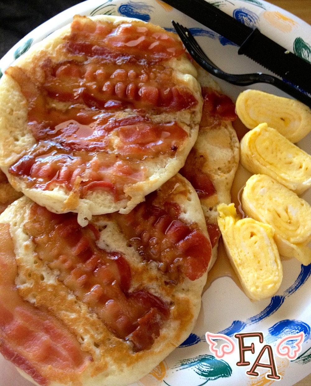 "Fiction-Food Café: Bacon Pancakes from ""Adventure Time"""