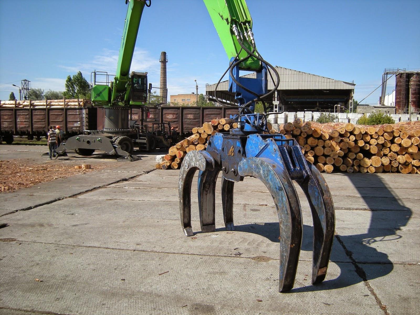 pince à grumes parc à bois