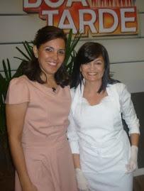 Eu e a Rita no programa Boa Tarde Regional na Band Campinas