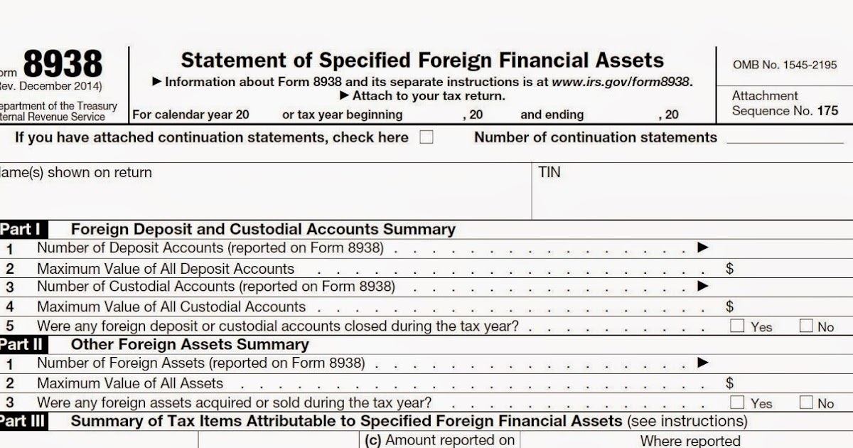 The Tax Times Final Regulations On Reporting Foreign Financial