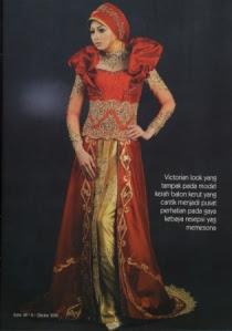 Tidak hanya untuk baju pengantin, kebaya juga dikenakan untuk cara