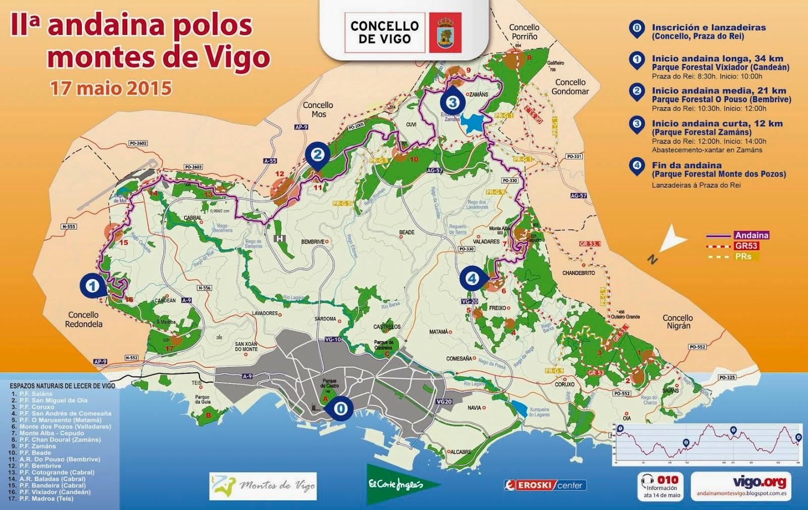 IIª Andaina polos montes de Vigo