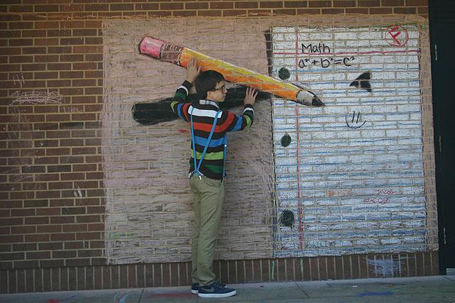 More interactive street art chalk murals