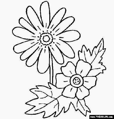 online flower coloring pages - photo#8