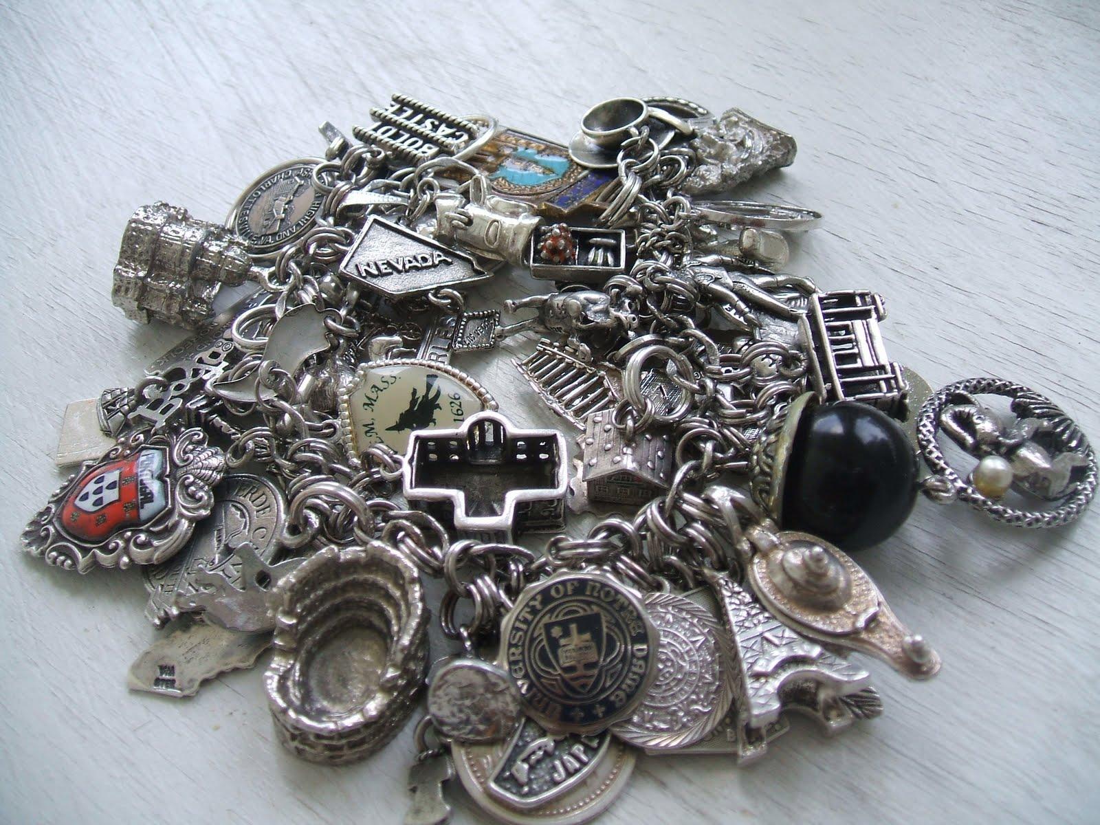 Vintage Jewels and Gad s My Traditional Vintage Charm Bracelet