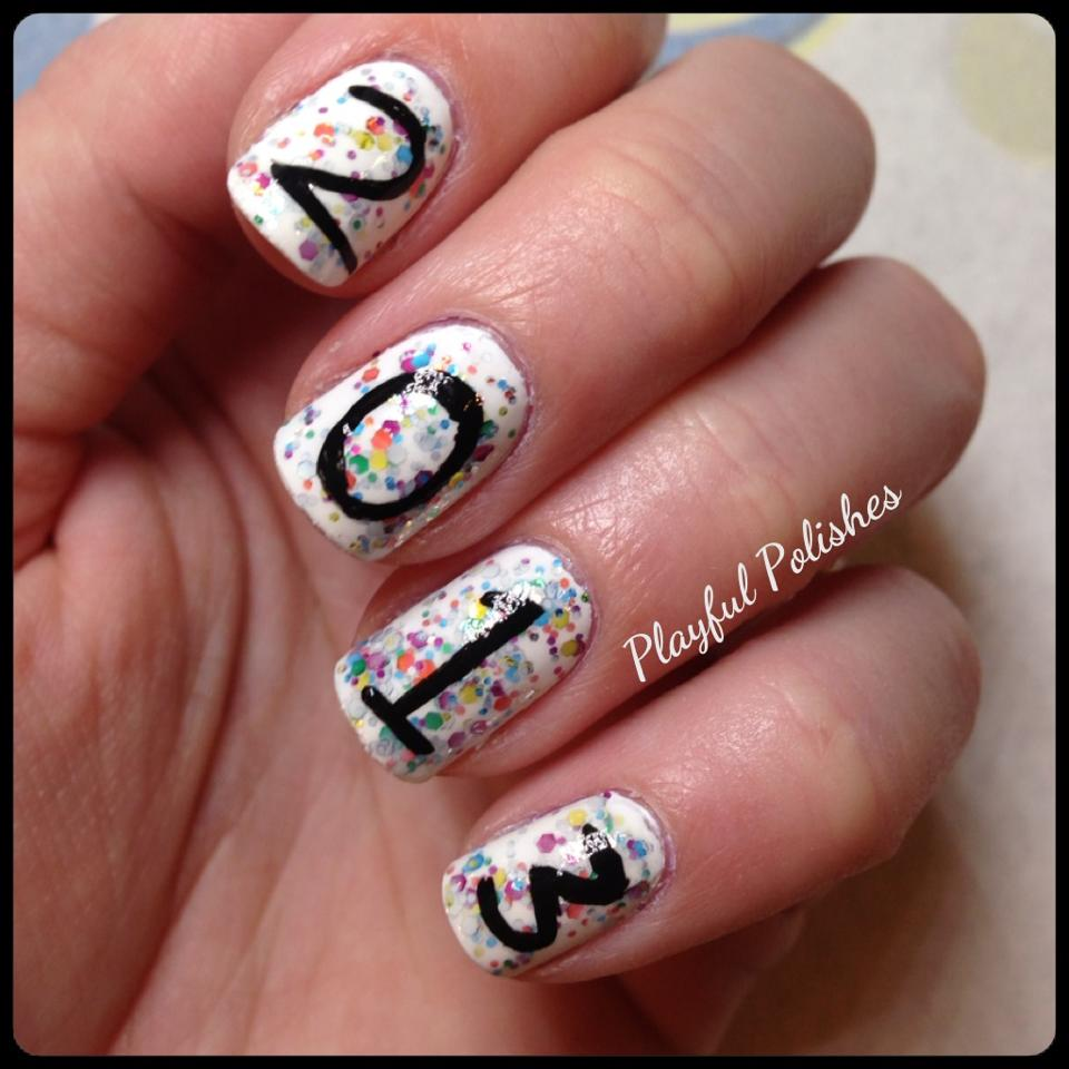 New Years Nail Polish: Playful Polishes: NEW YEARS EVE NAILS (LATE