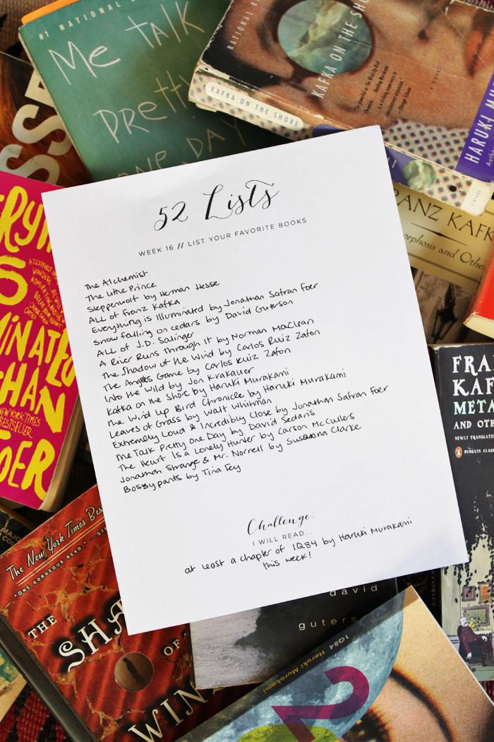 M O O R E A S E A L The 52 Lists Project – Project List