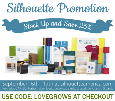 Stock Up and Save 25% on Silhouette consumables! Use code LOVEGROWS at checkout!