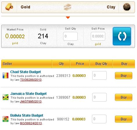 GoldenTowns explicación vender productos en el mercado