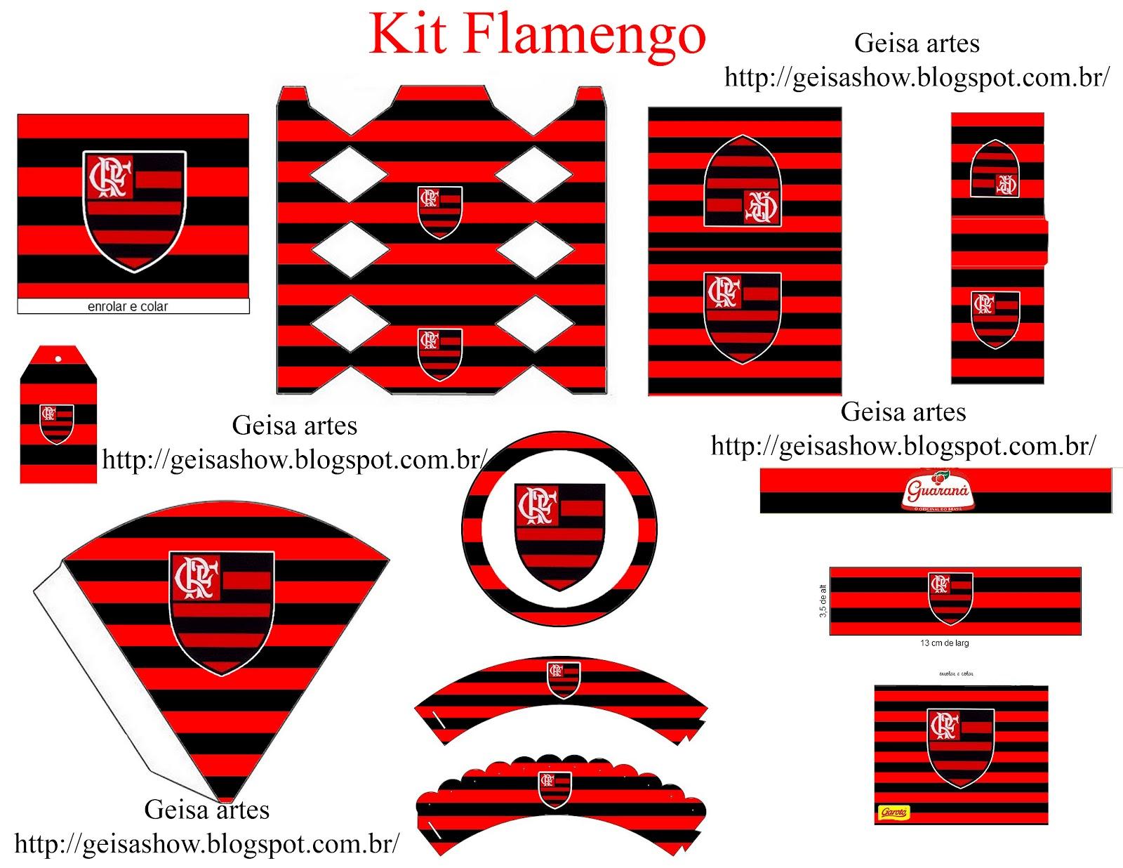 Geisa Artes Convites E Personalizados Kit Flamengo Personalizado
