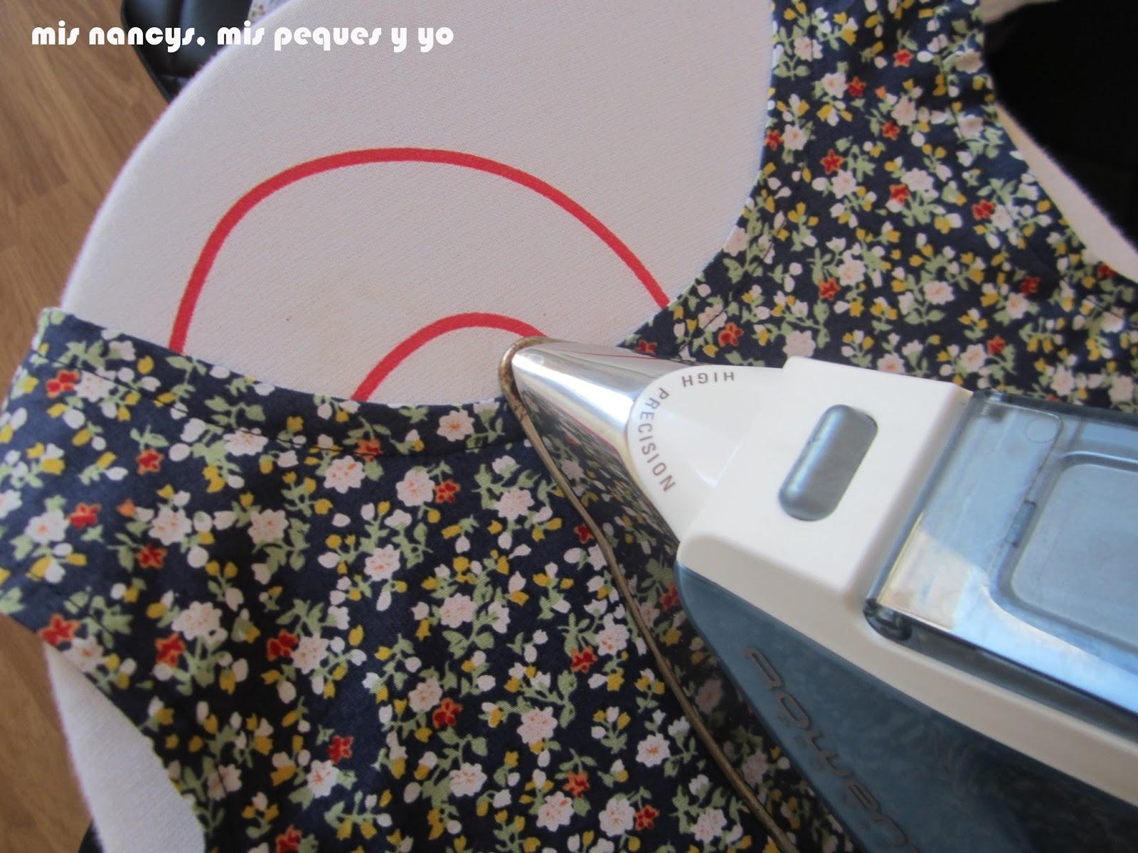 mis nancys, mis peques y yo, tutorial blusa sin mangas niña (patrón gratis), planchar bies cuello