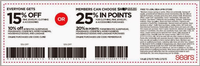 Sears optical coupons