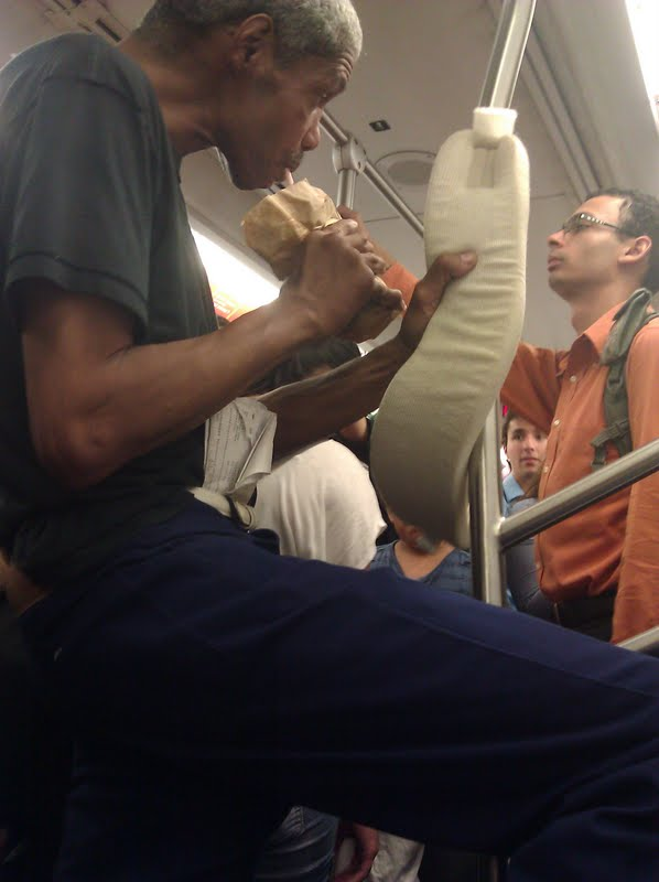 Guy Drinking Beer Through Nose