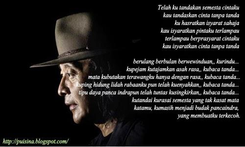 """Puisi Cinta Tanpa Tanda oleh """"Sujiwo Tedjo"""""""