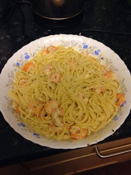 Gina 39 s italian kitchen red lobster copycat shrimp pasta for How to make lobster pasta