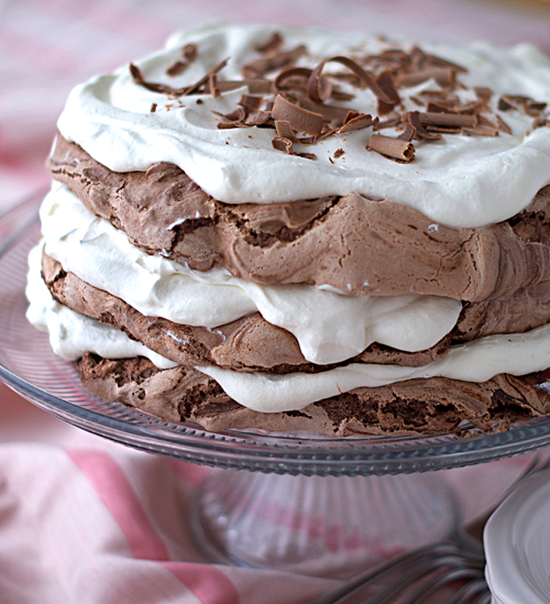 Chocolate Meringue Cake Recipe — Dishmaps
