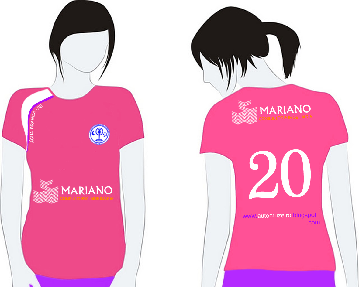 Auto cruzeiro de futebol novo uniforme feminino