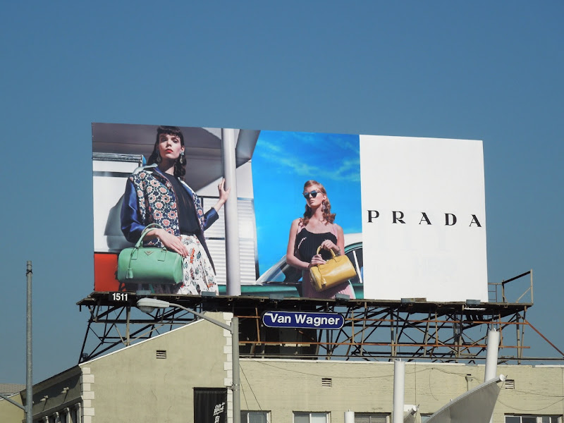 Prada retro 50s billboard