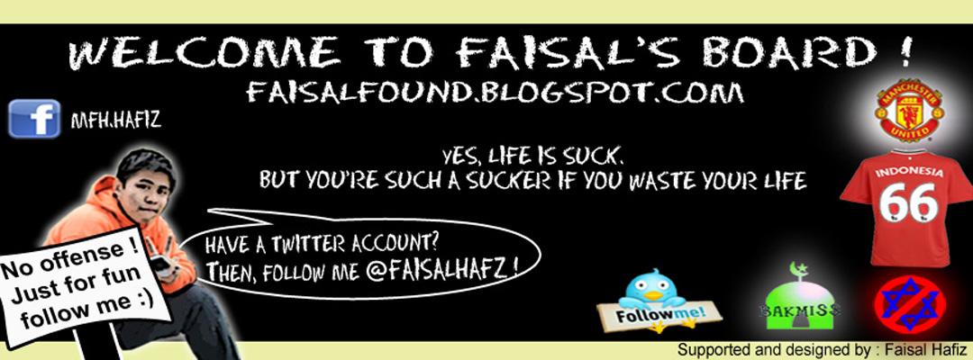 Faisal found....?