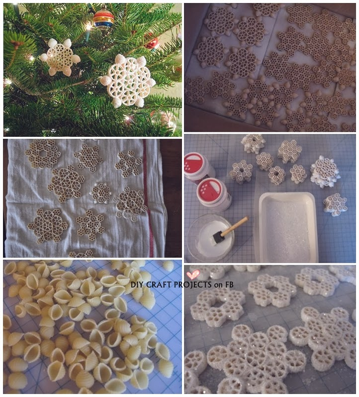 How To Make Macaroni Snowflakes