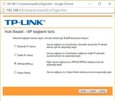 TP-Link Hızlı Kurulum