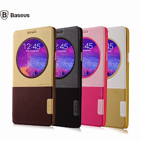 Baseus Magnetic Window Leather Case for Samsung Galaxy Note 4