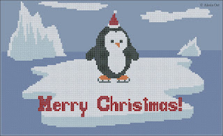 Free cross-stitch patterns, penguin, bird, Antarctica, Christmas, holiday, cross-stitch, back stitch, cross-stitch scheme, free pattern, x-stitchmagic.blogspot.it, вышивка крестиком, бесплатная схема, punto croce, schemi punto croce gratis, DMC, blocks, symbols