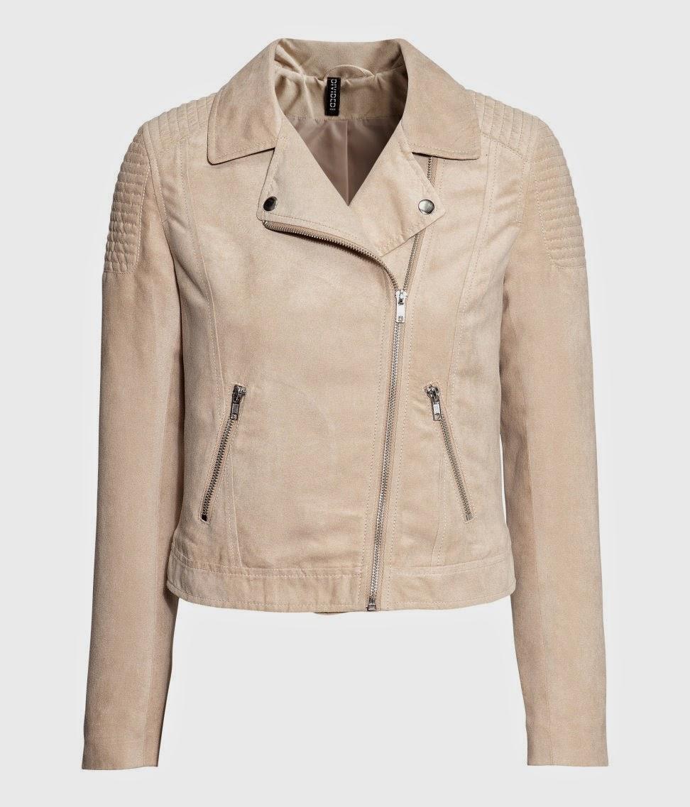 beige biker coat
