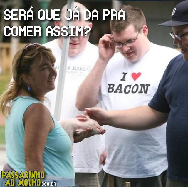 i love bacon, camiseta, gordo, bacon